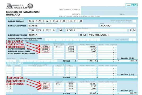 Pagare l 39 irpef in ritardo il ravvedimento operoso for F24 elide prima registrazione